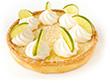 Tarte meringuée citron vert
